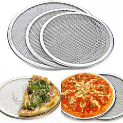 New Oven Net Flat Cookware Baking Tray Pizza Screen Plate Pa