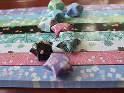 Origami Stars Papers Package  - 8 Colors - With Instruction