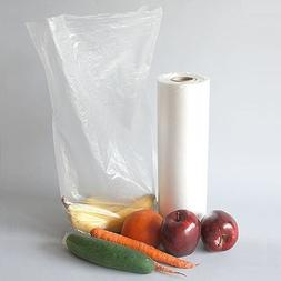 """Plastic Roll Bags 10""""x15"""", HDPE Produce Roll, 1 Roll 620 Bag"""