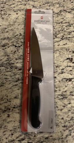 R.H. Forschner 47570 6-in. Chefs Knife, Black Fibrox Handle