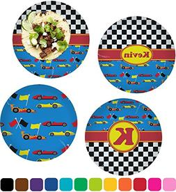 """Racing Car Set of 4 Glass Lunch/Dinner Plate 10"""""""
