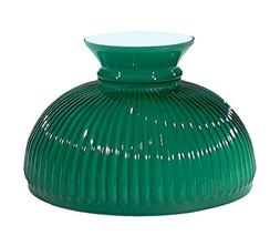 "B&P Lamp 10"" Shade, Ribbed Student, Cased Green Over Opal"