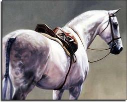 Shades of Gray by Janet Crawford - Horse Equine Art Ceramic
