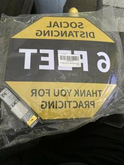Social Distancing Floor Sign Pack of 12- Each Sticker 10 Inc