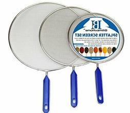 Grease Splatter Screen For Frying Pan Cooking - Stainless St