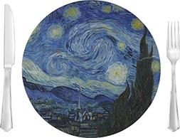 """The Starry Night  Glass Lunch/Dinner Plate 10"""""""