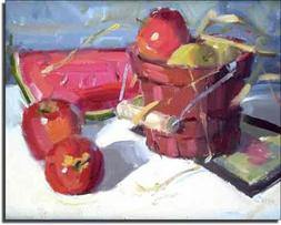 Summer Color by Judy Crowe - Fruit Apple Ceramic Accent Tile