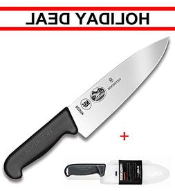 Victorinox Swiss army, Fibrox Straight Edge Chef's Knife, 8-