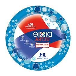 """Dixie Ultra 10 1/16"""" Paper Plates, 64 Count"""