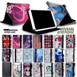 For Various 7 8 10 inch Tablet -  FOLIO LEATHER STAND CASE C