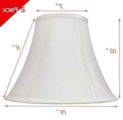 """White Bell Hand Made Fabric Lampshade, 7"""" x 14"""" x 11"""","""