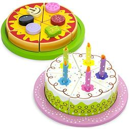 Wood Eats! Pizza Party Pack: Mix & Match Magnetic Pan Pizza