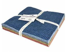 """Woolies Flannel Colors Assortment 42 - 10"""" x 10"""" Squares by"""