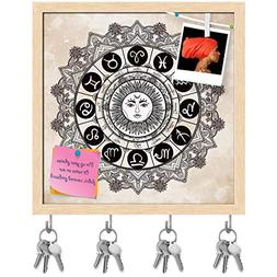 ArtzFolio Zodiac Set with Sun in The Middle Key Holder Hooks